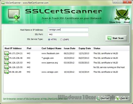 SSL Certificate Scanner 4 5 Free download